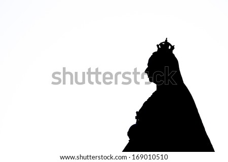 Queen Victoria Silhouette - stock photo