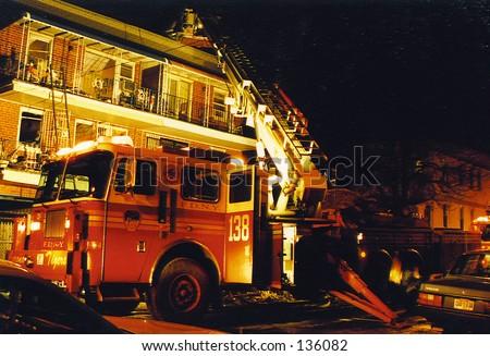 Queens Fire2 - stock photo