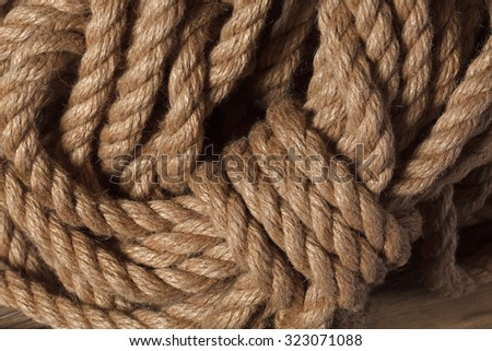 queens rope rope with beautiful texture - stock photo