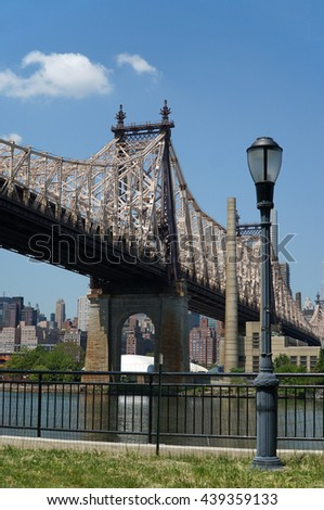 Queensborough Bridge in Midtown Manhattan. New York City, USA.