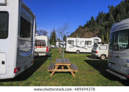 QUEENSTOWN, NEW ZEALAND - SEPTEMBER 5, 2016: View of Queenstown lakeview holiday park, New Zealand