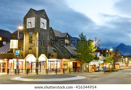 QUEENSTOWN, NZ - Nov18:Visitors in Queenstown on Nov18 2014.It's one of the most popular travel destination in New Zealand known for it's restaurants, ski tourism and extreme sport adventure. - stock photo