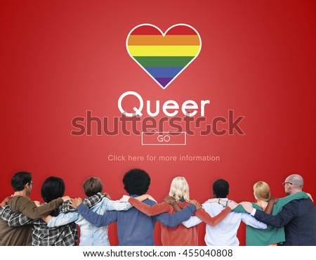 Queer LGBT Lesbian Gay Bisexual Transgender Concept - stock photo