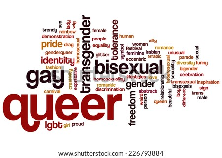 Queer word cloud concept - stock photo