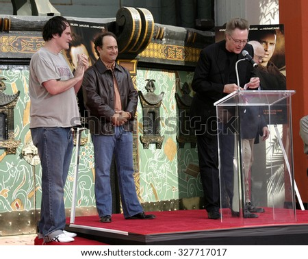 Quentin Tarantino and Kevin Pollack at Christopher Walken Honored With A Hand & Footprints Ceremony held at the Grauman's Chinese Theatre in Hollywood, USA on October 8, 2004.