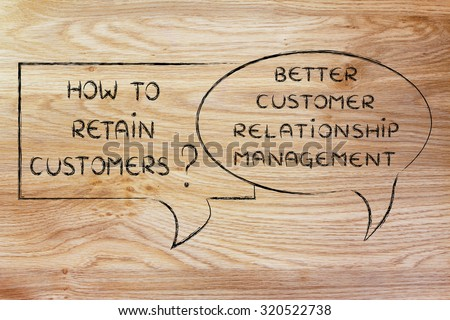 question and answer: how to retain customer? better crm - stock photo