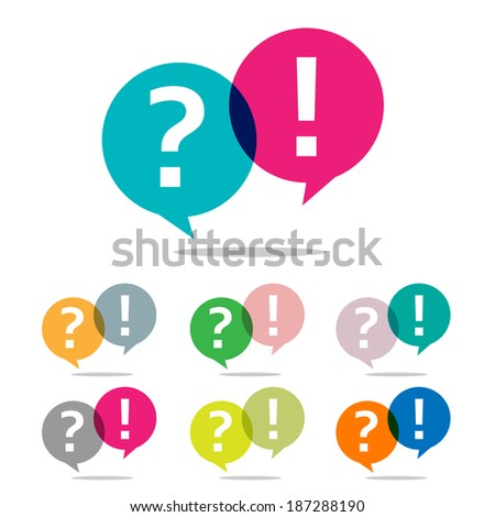 question and answer set - stock photo