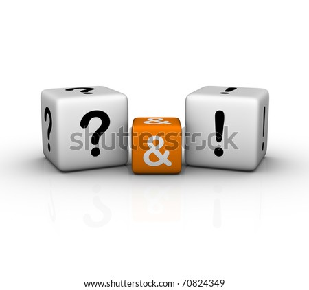 Question and Answers (3D crossword orange series) - stock photo