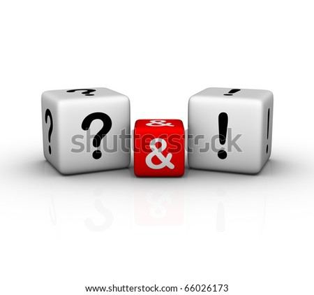 Question and Answers symbol - stock photo