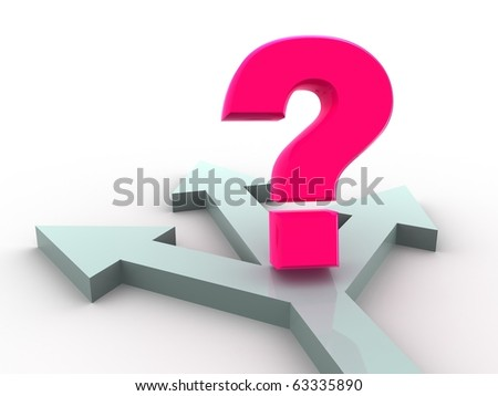 question. 3d - stock photo