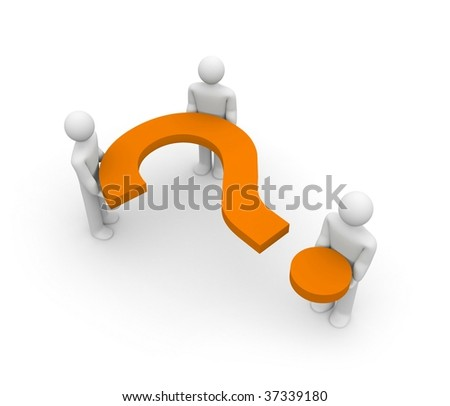 Question for team - stock photo