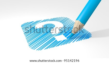 Question marck - stock photo