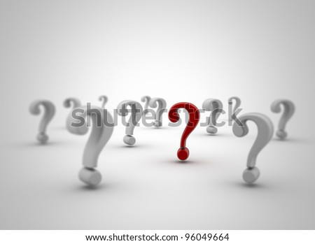 Question mark background - stock photo
