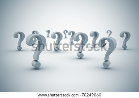 Question mark background  with dof - stock photo