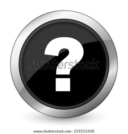 question mark black icon ask sign  - stock photo