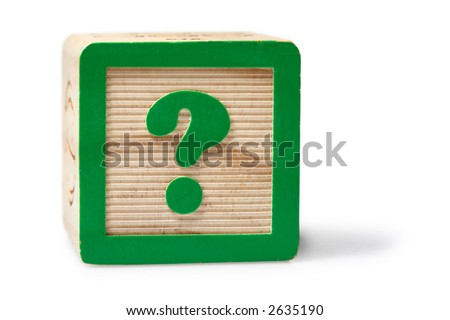 Question Mark Block - stock photo