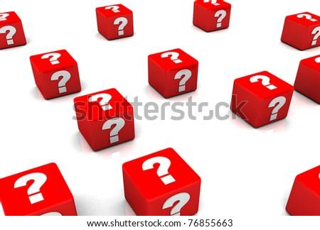 Question mark box - stock photo