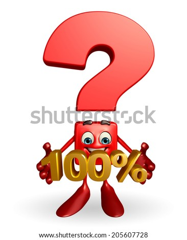 Question mark character with percent sign