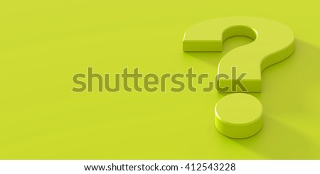 Question mark conceptual background, 3d rendering - stock photo