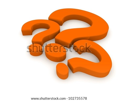 Question mark. 3d illustration. - stock photo