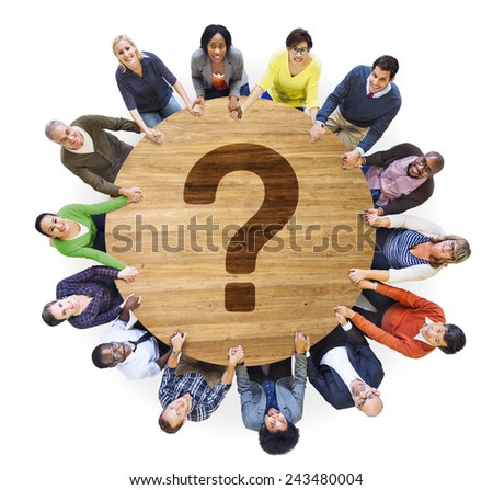 Question Mark FAQ Answer Information Suggestion Help Feedback Concept - stock photo