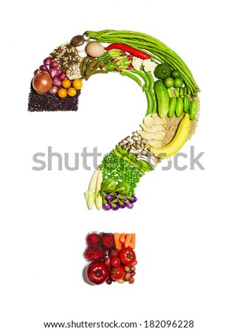 Question Mark from Vegetable - stock photo