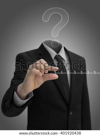 Question Mark Head businessman