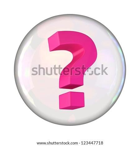 Question mark in soap bubble - stock photo