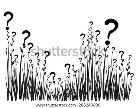 Question mark isolated on white background.  illustration  - stock photo