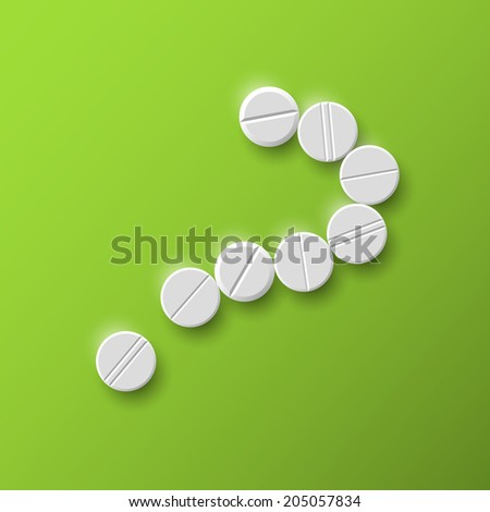 question mark of the pills - stock photo