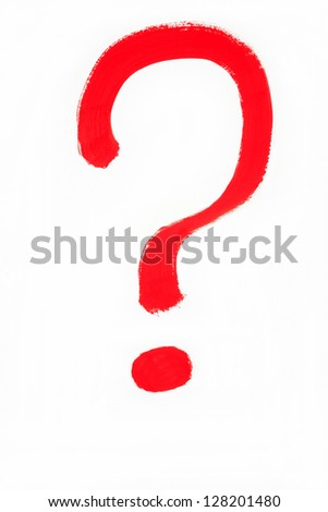 Question mark on a white background - stock photo