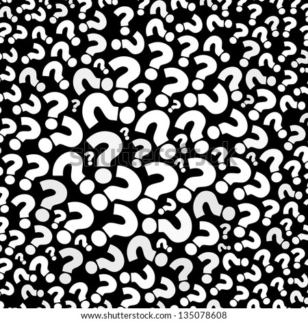 Question mark seamless background - stock photo