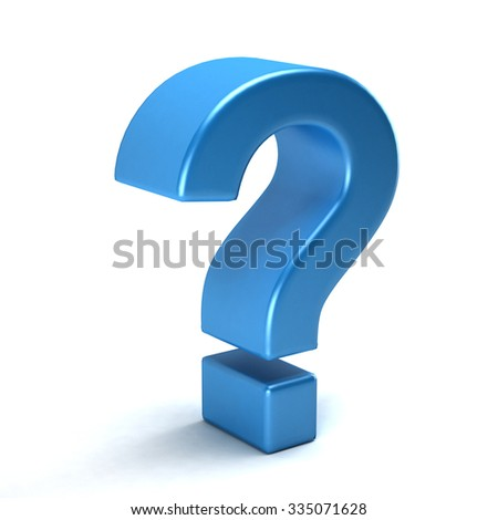 Question mark symbol in style - stock photo