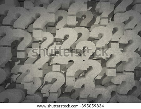 Question marks background - stock photo