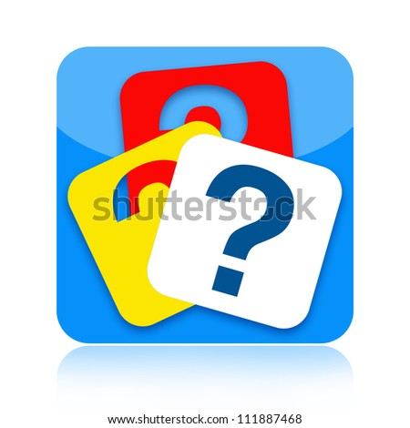 Question marks icon - stock photo