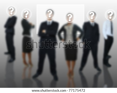 Question of business team - stock photo