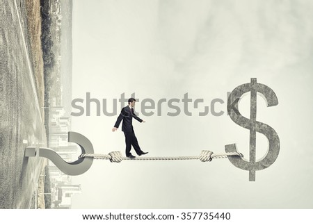 Question of financial risks - stock photo