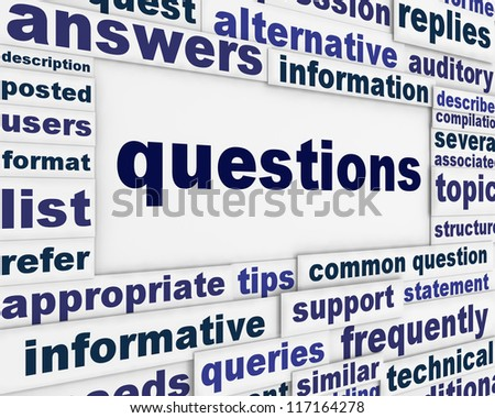 Question poster concept. Ask for information message background - stock photo