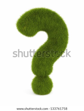 Question sign from grass