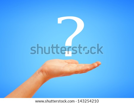 Question symbol - stock photo