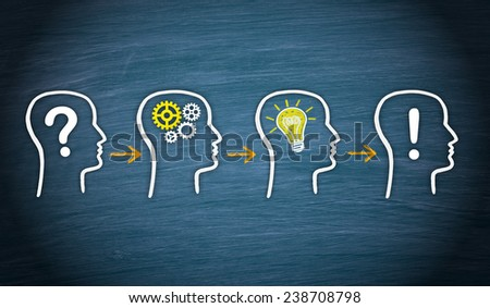 Question - Think - Idea - Solution - stock photo