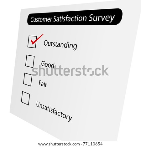 Questionnaire about the level of satisfaction - stock photo