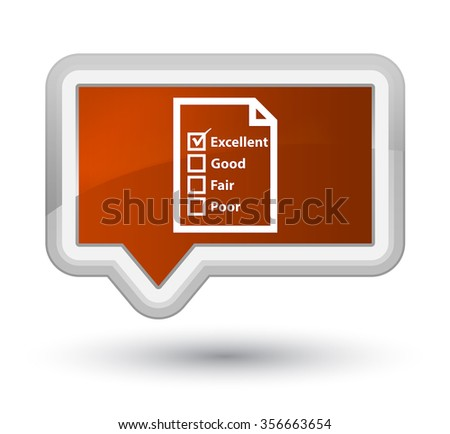 Questionnaire icon brown banner button - stock photo