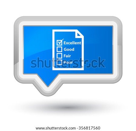 Questionnaire icon cyan blue banner button - stock photo
