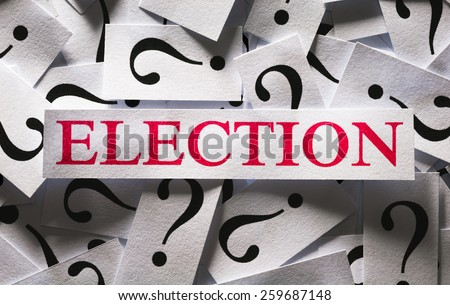 Questions about the Election , too many question marks - stock photo