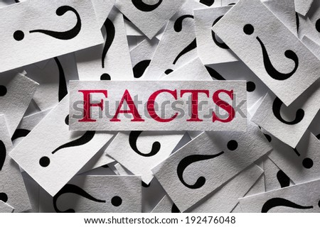 Questions about the Facts , too many question marks - stock photo
