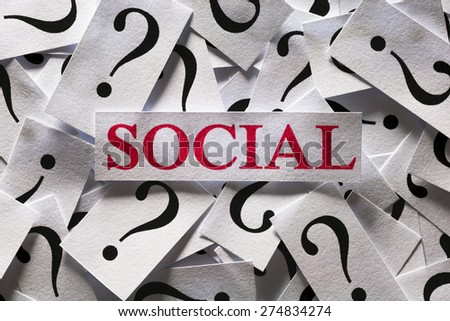 Questions about the Social , too many question marks - stock photo