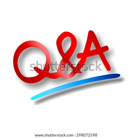 questions and answers - stock photo