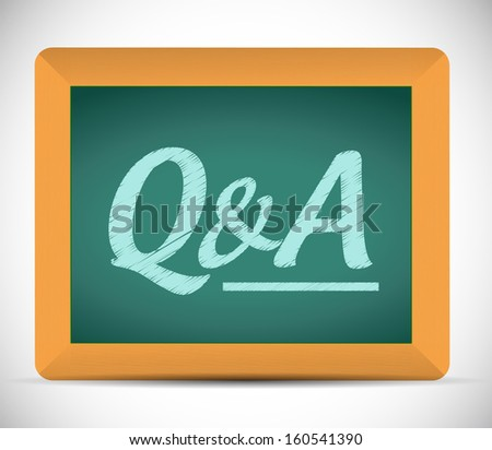 questions and answers illustration design over a chalkboard - stock photo