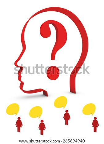 questions from people - stock photo